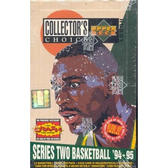 1994/95 Upper Deck Collector's Choice Series 2 Basketball Hobby Box