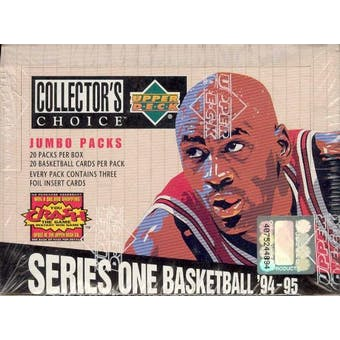 1994/95 Upper Deck Collector's Choice Series 1 Basketball Jumbo Box