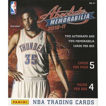 2010/11 Panini Absolute Memorabilia Basketball Hobby Box
