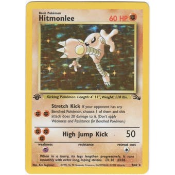 Pokemon Fossil 1st Edition Single Hitmonlee 7/62