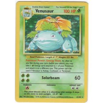 Pokemon Base Set 1 Single Venusaur 15/102 - SLIGHT PLAY
