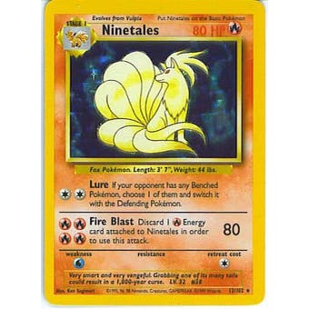 Pokemon Base Set 1 Single Ninetales 12/102 - NEAR MINT (NM)