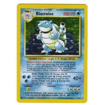 Pokemon Base Set 1 Single Blastoise 2/102 - SLIGHT PLAY (SP)