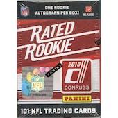 2010 Donruss Rated Rookie Football Hobby Box (Set)