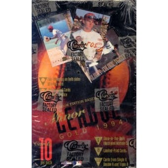 1994 Classic Minor League Gold Baseball Wax Box