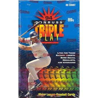1994 Donruss Triple Play Baseball Hobby Box