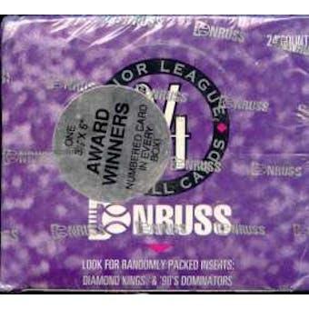 1994 Donruss Series 1 Baseball Jumbo Box