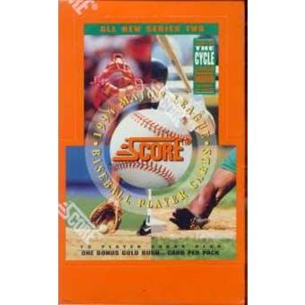1994 Score Series 2 Baseball Retail Box