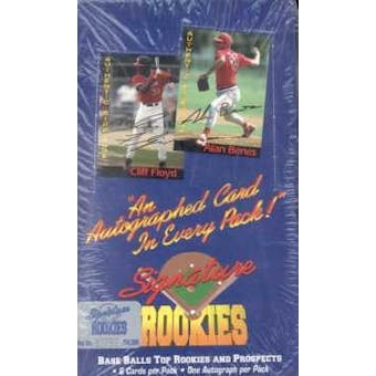 1994 Signature Rookies Baseball Hobby Box
