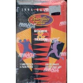 1994 Pinnacle Sportflics Traded & Rookies Baseball Hobby Box