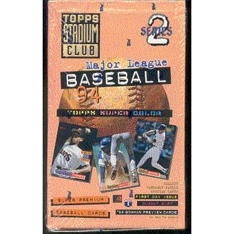 1994 Topps Stadium Club Series 2 Baseball Hobby Box