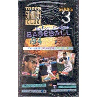 1994 Topps Stadium Club Series 3 Baseball Hobby Box