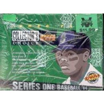 1994 Upper Deck Collector's Choice Series 1 Baseball Jumbo Box