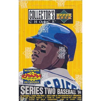 1994 Upper Deck Collector's Choice Series 2 Baseball Hobby Box