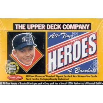 1994 Upper Deck All-Time Heroes Baseball Hobby Box (Reed Buy)