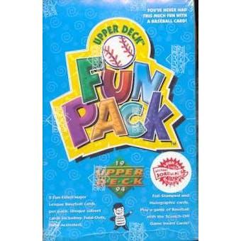 1994 Upper Deck Fun Pack Baseball Hobby Box