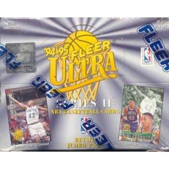 1994/95 Fleer Ultra Series 2 Basketball Jumbo Retail Box