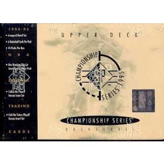 1994/95 Upper Deck SP Championship Basketball Retail Box