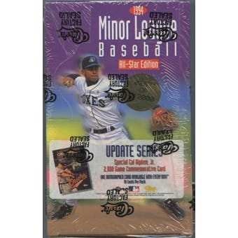 1994 Classic Minor League Update Series Baseball Hobby Box