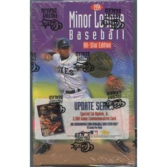 1994 Classic Minor League Update Series Baseball Hobby Box