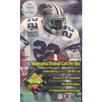 1994 Pro Line Live Football Wax Box