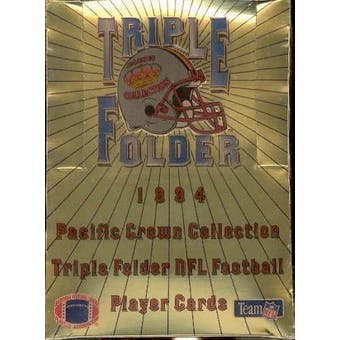 1994 Pacific Crown Collection Triple Folder Football Hobby Box