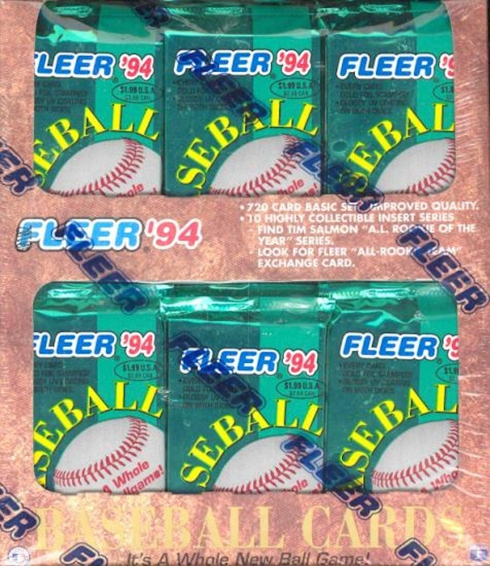 1994 Fleer Baseball Jumbo Box Da Card World