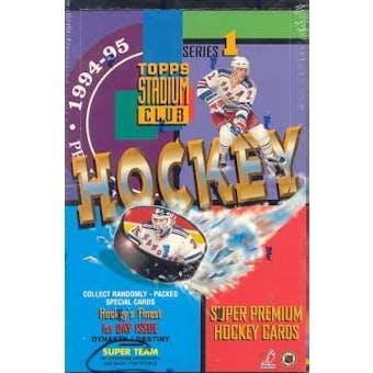 1994/95 Topps Stadium Club Series 1 Hockey Hobby Box