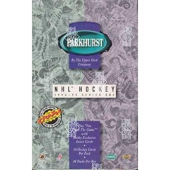 1994/95 Parkhurst Series 1 Hockey Hobby Box