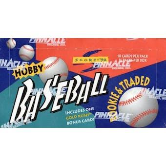 1994 Score Traded & Rookies Baseball Hobby Box