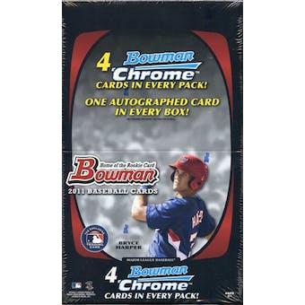 2011 Bowman Baseball Rack Pack Box (18 Packs)