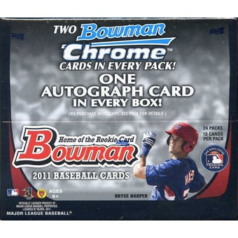 2011 Bowman Baseball 24-Pack Box