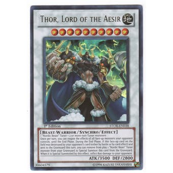 Yu-Gi-Oh Storm of Ragnarok Single Thor, Lord of the Aesir Ultra Rare
