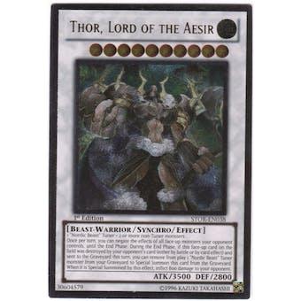 Yu-Gi-Oh Storm of Ragnarok Single Thor, Lord of the Aesir Ultimate Rare