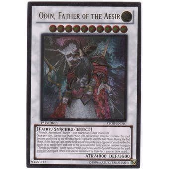 Yu-Gi-Oh Storm of Ragnarok Single Odin, Father of the Aesir Ultimate Rare