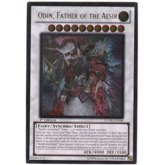 Yu-Gi-Oh Storm of Ragnarok Single Odin, Father of the Aesir Ultimate Rare