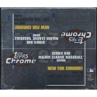 2004 Topps Chrome Series 1 Baseball 20 Pack Box