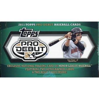 2011 Topps Pro Debut Baseball Hobby Box