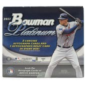2011 Bowman Platinum Baseball Hobby Box (Reed Buy)