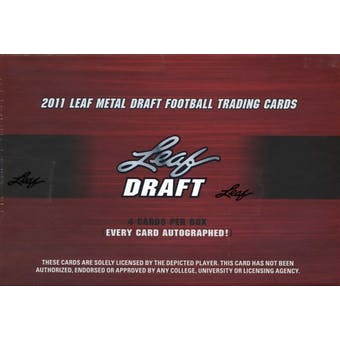 2011 Leaf Metal Draft Football Hobby Box