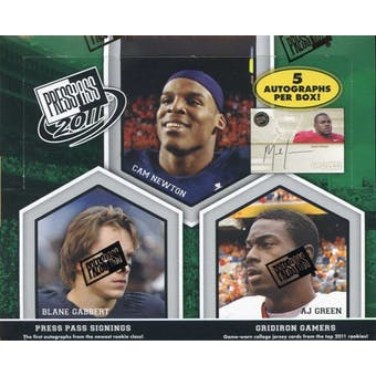 2011 Press Pass Football Hobby Box