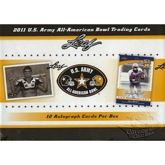 2011 Leaf U.S. ARMY All-American Bowl Football Hobby Box - SAMMY WATKINS RC