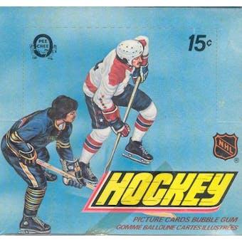 1977/78 O-Pee-Chee Hockey Wax Box
