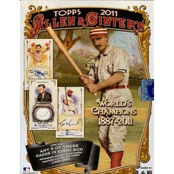 2011 Topps Allen & Ginter Baseball Hobby Box