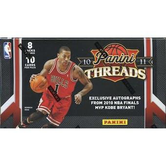 2010/11 Panini Threads Basketball Blaster 8-Pack Box