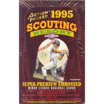 1995 Action Packed Scouting Report Baseball Hobby Box