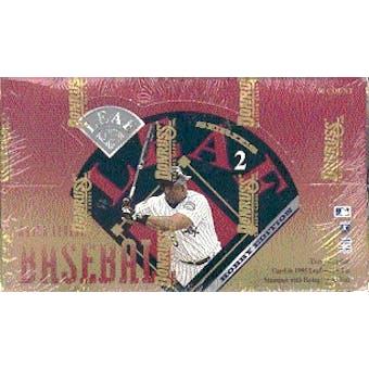 1995 Leaf Series 2 Baseball Hobby Box