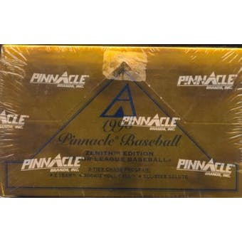 1995 Pinnacle Zenith Baseball Hobby Box