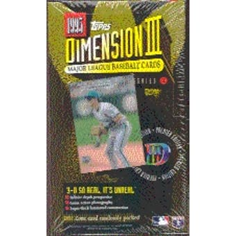 1995 Topps Dimension 3 Baseball Hobby Box