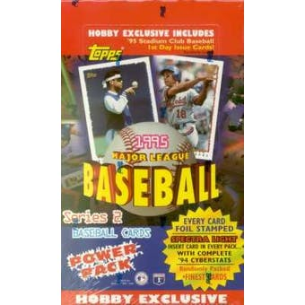 1995 Topps Series 2 Baseball Hobby Box